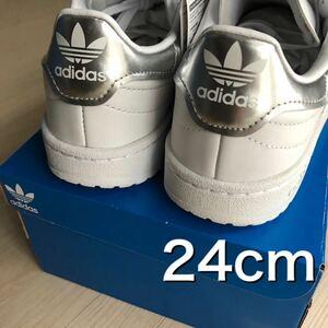 送料無料★新品未使用 adidas オリジナルス Team court チームコート originals シルバー メタリック ホワイト 白