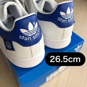 送料無料 新品未使用 adidas originals スタンスミス Stan Smith オリジナルス ブルー ホワイト 26.5