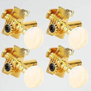 新品 未使用 ウクレレペグ チュ-ニングペグ 3-K4 マシンヘッド 交換部品用 4本セット(2R&2L) ウクレレ愛好家向け 4弦 ウクレレペグ