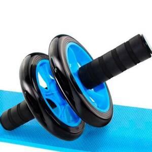 腹筋ローラー 膝保護マット付き 静音 アブホイール 取り付け簡単 腹筋トレ 青 ブルー