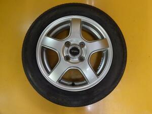 送料無料 タイヤホイール4本 中古 155/65R14 N-BOX タント プレオ アルト ミラ ムーヴ 軽自動車 ブリヂストン ネクストリー トップラン