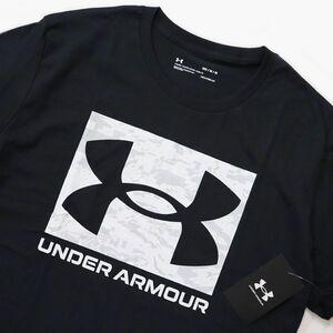 ●送料390円可能商品 アンダーアーマー UNDER ARMOUR 新品 メンズ 速乾 ビッグロゴ カモ 半袖 Tシャツ 黒[1361673-001-XL] 三 参★QWER★