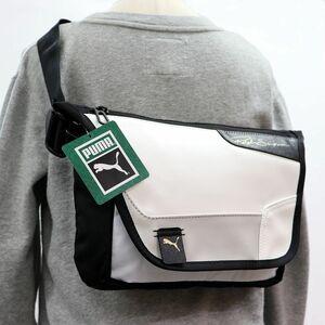 ★プーマ PUMA × ラルフ サンプソン 新品 カジュアル メッセンジャー ショルダーバッグ バッグ かばん 鞄 BAG 白黒 [077451011N] 六★QWER