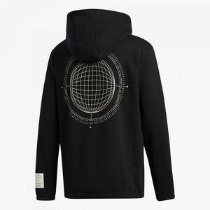 ★アディダス adidas 新品 メンズ コットン素材 フルジップ スウェット パーカー ジャケット 黒 Lサイズ[GJ0959-L]二 弐★QWER★