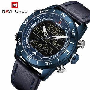 新品 腕時計メンズ 腕時計 xq1455 NAVIFORCE 防水多機能デジタルクォーツウォッチメンズ腕時計 メンズJI43