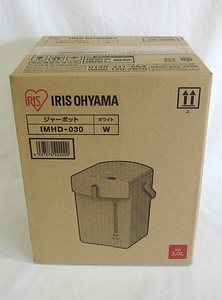 アイリスオーヤマ 電気ポット(ジャーポット)IMHD-030(ホワイト・3.0L)