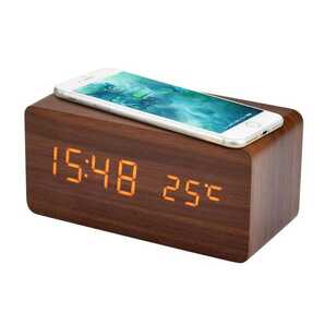目覚まし時計 置き時計 木目調