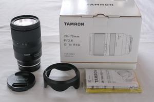 TAMRON 28-75mm F/2.8 Di III RXD タムロン