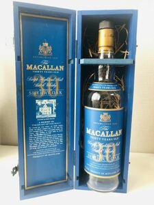 【空き瓶】The MACALLAN マッカラン 30年 ブルーラベル シェリーオーク 木箱 空瓶