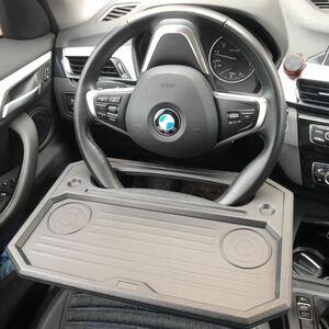 黒色 車載テーブル ステアリング取付テーブル 車内 便利 カーアクセサリー