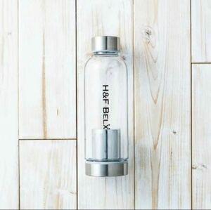 ティータンブラー S 380ml 水筒 マイボトル プラスチック 透明 クリア おしゃれ かわいい 茶こし付 H&F BELX