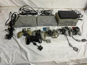 \ PlayStation プレイステーション1,2 本体 まとめて5点+付属品 コントローラ メモリーカード 他