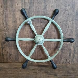 舵輪 ラット 金属製 アンティーク 直径57㎝ オブジェ インテリア /SR13