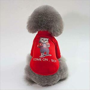 liboyixi 赤い色 XL LIBOYIXI冬のペット暖かい服厚い綿の服秋と冬のかわいいファッション衛生服中小ペット服 ( )
