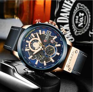 [正規品][入手困難] 腕時計 メンズ 多機能 ウォッチ 防水 夜光 日付 クロノグラフ クォーツ式 本革バンド 高級感満載