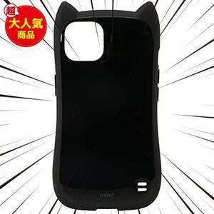 ★カラー:ブラック★ ラスタバナナ iPhone13 専用 ケース カバー ハイブリッド 猫耳 ネコミミ 耐衝撃吸収 強い 頑丈 かわいい おしゃれ