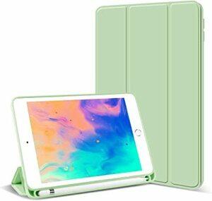 抹茶グリーン KenKe iPad Mini5 ケース 7.9インチ 軽量 スマート柔らかいTPUシリコン製カバー ペンホルダー