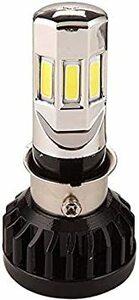 LEDヘッドライト Hi/Lo切替 バイク用 PH7 PH8 H6 BA20D H4 LEDバルブ 汎用 純正交換用 DC&am