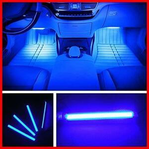 ★色:ブルー★ EJ's SUPER CAR カー内部LED装飾ライト シングルカラーモード 36ランプビーズ 高輝度 車内フロア ライト イルミネーション