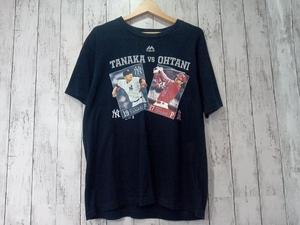 田中将大 x 大谷翔平 TANAKA vs OHTANI Tシャツ Majestic マジェスティック メジャーリーグ ネイビー L 店舗受取可