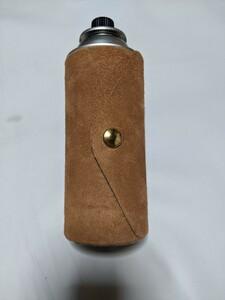 栃木レザー ヌメ革床革 レザーCB缶カバー ブラウン