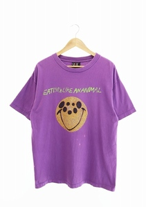SAINT MICHAEL セントマイケル 21SS S/S T-SHIRT バグ プリント 半袖 Tシャツ SM-S21-0000-004 L 紫 パープル 211023/107 メンズ