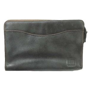 ダンヒル dunhill レザー クラッチ セカンド バッグ 鞄 ビジネス ブラウン メンズ