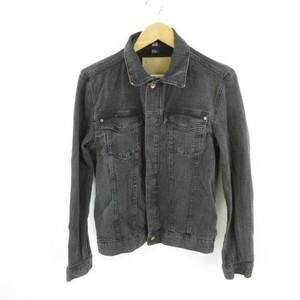 エイチ&エム H&M ジャケット ブルゾン Gジャン 長袖 ストレッチ 黒 XS *E678 メンズ