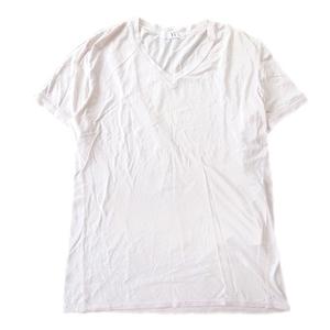 ワイズフォーメン Y's for men ヨウジヤマモト Yohji Yamamoto Vネック Tシャツ カットソー カットオフ 裁ち切り加工 3♪7