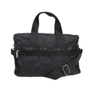 レスポートサック LesportSAC 2way ミニボストン ハンド ショルダー バッグ 旅行鞄 ナイロン ロゴ 黒 ブラック メンズ レディース※