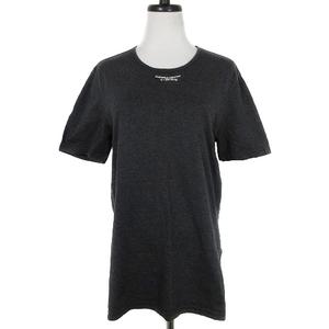 エンポリオアルマーニ EMPORIO ARMANI Tシャツ カットソー 半袖 クルーネック 薄手 コットン プリント L グレー トップス /BT レディース