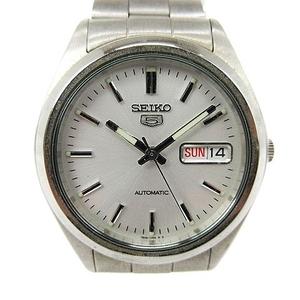 セイコー SEIKO セイコー5 ファイブ 腕時計 自動巻き 3針 デイデイト 7S26-0060 シルバー 文字盤 白 ホワイト ジャンク ■SM メンズ