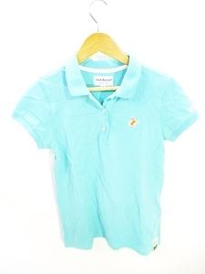 パーリーゲイツ PEARLY GATES ジャックバニー ゴルフ ウェア ポロシャツ 半袖 ロゴ 水色 ライトブルー size0 国内正規 レディース