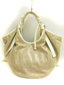 フランチェスコビアジア FRANCESCO BIASIA トート バッグ ハンド 手提げ レザー ホワイト ベージュ系 かばん 鞄 レディース