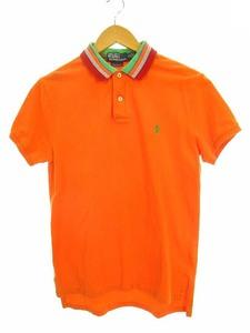 ポロ バイ ラルフローレン Polo by Ralph Lauren トップス ポロシャツ 半袖 ロゴ ワンポイント 刺繍 コットン オレンジ M メンズ