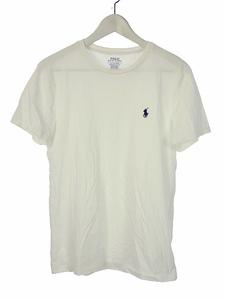 ポロ ラルフローレン POLO RALPH LAUREN 半袖 カットソー ワンポイント Tシャツ トップス S 白 ホワイト メンズ