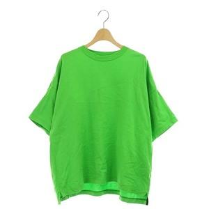ブラミンク BLAMINK Tシャツ カットソー コットン クルーネック オーバースリーブ 半袖 1 緑 グリーン /AO ■OS レディース