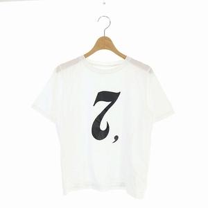 グレースクラス GRACE Class 20SS レタード Tシャツ カットソー 半袖 プリント クルーネック 36 白 /AA ■OS レディース