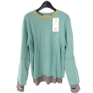 未使用品 ファセッタズム FACETASM ワッフル レイヤード Tシャツ カットソー 長袖 5 ライトブルー 青 ZUK-2330-08 メンズ