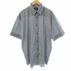 ヴィヴィアンウエストウッドマン 20SS NEW BIG CLASSIC SHORT SLEEVE SHIRTS シャツ 半袖 チェック オーブ刺繍 48 XL 黒 白 メンズ