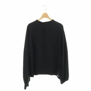 未使用品 ユナイテッドトウキョウ UNITED TOKYO 2WAY マルチスリーブラウス カットソー バンドカラー 長袖 0 黒 ブラック