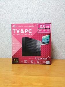 【ほぼ未使用・美品】外付けhdd 2TB テレビ録画もできる seagate elecom SGD-MX020UBK