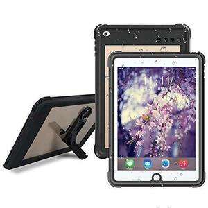 ブラック 9.7インチ iPad 2017/2018 防水ケース ipad 9.7 ケース IP68防水規格 完全密封防水 アイ