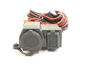 防水仕様 バイク用 12V シガーソケット電源 10A USB充電端子付き 5V 最大2.1A スマホ 携帯電話 ナビ ETC レーダー探知機 充電可能!