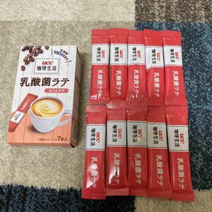 UCC 珈琲生活 乳酸菌ラテ カフェラテ スティックコーヒー 10本