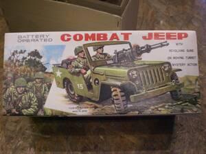 デッドストック 1960年代 野村トーイ COMBAT JEEP MYSTERY ACTION コンバット ジープ ミステリーアクション ブリキ自動車