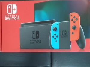 ほぼ未使用品です 新型ニンテンドースイッチ本体 ネオンレッドネオンブルー switch
