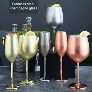 新品 ステンレス鋼シャンパンカップワイングラスカクテルグラスメタルワイングラスバーレストランゴブレット K173 GQ15