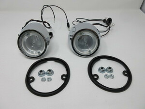 1964-1966 FORD MUSTANG&COUGAR フォード マスタング バック アップ レンズ Assy 左右set NEW ROUND! GOODMARK製 302084664LS.RS