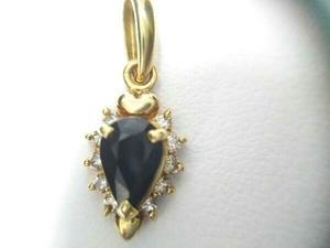 【K18】 天然ブルーサファイア 0.59ct ダイヤモンド 0.09ct トップ ソーティング付 アクセサリー ジュエリー 中古